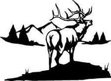 ELK HUNTER - Truck Window Decal - Vinyl Decal- Sticker Hunting Car Truck Suv