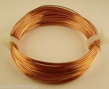 COPPER ROUND WIRE 22 GA ( HALF-HARD ) 1 OZ  35FT. GENUINE SOLID BARE COPPER