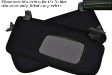 GREEN STITCH FITS SUBARU IMPREZA WRX STI 2001-2004 2X SUN VISORS LEATHER COVERS