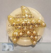 BATH & BODY WORKS PEARL STARFISH SCENTPORTABLE HOLDER CAR VISOR CLIP FRESHENER