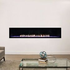 """Empire Boulevard Vent-Free Linear Contemporary Fireplace 72"""" Modern LED Lighting"""