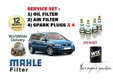 FOR VAUXHALL ZAFIRA 1.6  16V 1999-1/2008 SERVICE KIT OIL AIR FILTER + PLUGS SET