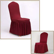 New Dining Room Wedding Banquet Stretch Chair Covers  Pleated Stretch Seat Cover