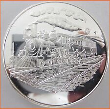 "RARE ! 2 oz .999 Silver ""MEXICO LOCOMOTIVE - RAILWAY"" Only one on Ebay 7206"