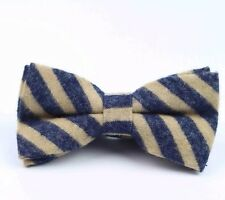 New Brown & Blue Tweed/ Wool Pre-Tied bow tie. Uk Seller.  Excellent Reviews.