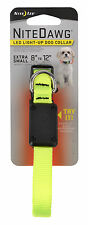 Nite Ize Nite Dawg Extra Small LED Light Up Dog Collar Neon Yellow NND-03-33XS