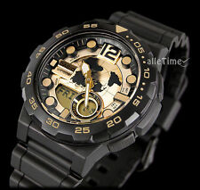 Casio watch GOLD & BLACK WORLD MAP TRAVELER ADVENTURE telenemo g shock OROLOGIO