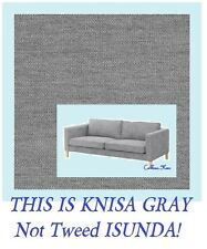 IKEA Karlstad 3-Seat Sofa Cover Knisa Light Gray(MultiShipDiscount)Slipcover NEW