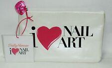 Sally Hansen I Love Nail Art Zip Shut Make Up Pouch, With Heart Zipper