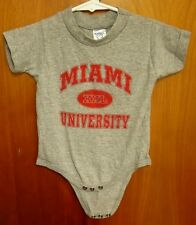 MIAMI UNIVERSITY creeper 12M romper OHIO infant Red Hawks baby Oxford