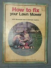 1974 How To Fix Your Lawn Mower Tecumseh & Craftsman Engines Instruction &Photos
