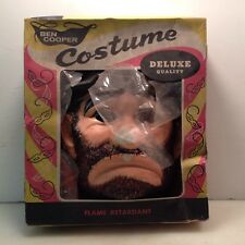 Vintage Retro Ben Cooper Halloween Costume Mask & Clothes Hobo Bum Tramp w/Box
