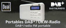Dual DAB 2 Radio Digitalradio DAB+ / UKW Tuner, Kofferradio weiß