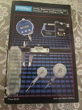 1986 Fowler Quality Measuring Instruments and Precision Tools Catalog #1786