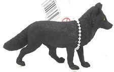 S68) Safari Black Fox rare handpainted Alaska animals figurines