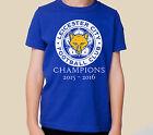 Kids LEICESTER CITY Football T-shirt 2015-2016 LCFC Champions kids shirt