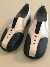 Golf Shoes Women SANDBAGGERS MOXIE Navy Pearl White Size 7