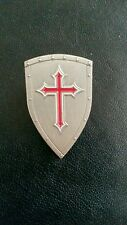 Knights Templar Shield Crusader St George Crusade Cross Pin Badge Medieval