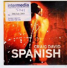 (FJ428) Craig David, Spanish - 2003 DJ CD