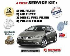 FOR HONDA CIVIC TYPE S 2.2 CDTi 2007-  OIL AIR FUEL POLLEN FILTERS SERVICE KIT