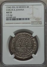 1542-55 Mexico  4 Reales NGC AU53 - OUTSTANDING! (82005)
