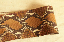 Python Printed-on Real SNAKESKIN SNAKE SKIN HIDE leather Brown Craftsupply