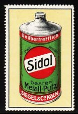45590/ Reklamemarke - SIDOL Metall-Putz - Siegel & Co. - Köln