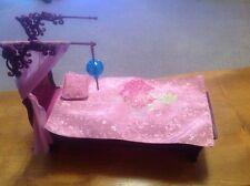 Muñeca Barbie Dosel de cama conjunto de moda fiebre mi casa muebles con Lámpara