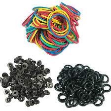 100 Tattoo #12 Machine Rubber Bands A-bar black Nipples O-rings grommets ink gun