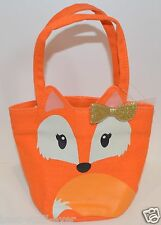 BATH & BODY WORKS ORANGE FOX SMALL TOTE CANVAS BAG PURSE HANDBAG MAKEUP HTF RARE