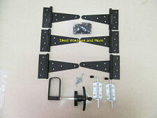 """New Heavy Duty Shed double door hardware kit: Kit 6"""" Hinges Shed Windows Coops"""