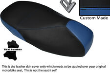ROYAL BLUE & BLACK CUSTOM FITS PIAGGIO VESPA 125 200 300 GTS DUAL SEAT COVER