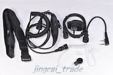 HOT! Throat Mic/ Forehead Mic Air Tube Headset for Kenwood Puxing Wouxun Baofeng