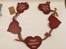 Valentine, Heart Garlin, Happy Valentines Day, Wall Hanging, Lot N0210385