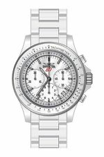 New Mens Invicta 22383 S1 Rally Overdrive Chronograph White Ceramic 45mm Watch