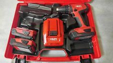 "HILTI Cordless 18v, 1/2"" Drill Driver  SFC 18-A  Li-ion Kit with 2.6Ah Batteries"
