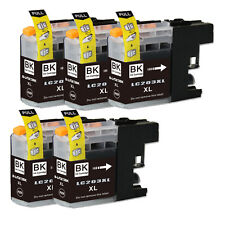 5 NEW Black Printer Ink for Brother Series LC203 LC201 MFC J460DW J480DW J485DW