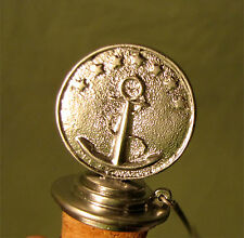 Wine Bottle Cork Topper Stopper Anchor and Stars Chain and Ring Nickel Finish