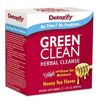 Detoxify Green Clean Herbal Cleanse Honey Tea Flavor w/Metaboost -SAME DAY SHIP
