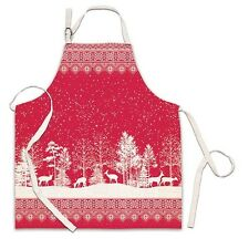 Michel Design Works Cotton Apron Christmas Snowy Night - NEW
