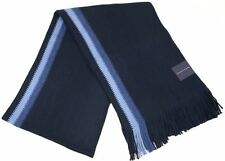 TOMMY HILFIGER Men's Striped Long Knit Scarf Muffler - Navy Blue / Light Blue