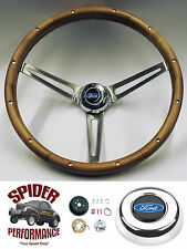 "1965-1966 Ford pickup steering wheel WALNUT 15"" Grant steering wheel"