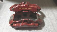 Porsche 911 996 6 piston Turbo Boxster Big Red Front Brake Calipers Pair