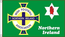 NORTHERN IRELAND FOOTBALL FLAG 5' x 3' Irish Soccer Red Hand of Ulster