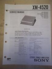Sony Service Manual~XM-4520 Amplifier/Amp~Original~Repair