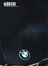 1986 BMW 635CSi COUPE DELUXE FACTORY BROCHURE -BMW 6-SERIES 635 CSi COUPE