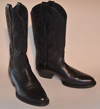 Ariat Leather Cowboy Boots Western Style Black Men's 9 D