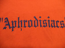 APHRODISIACS SOFTBALL TEAM JERSEY t shirt sz M #10 sex spanish fly NEW NWOT