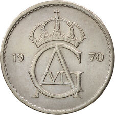 [#97028] Suède, Gustaf VI, 50 Öre, 1970, SUP, Copper-nickel, KM:837