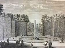 Le bassin de Saturne dans les jardins de Versailles Maurice Baquoy XVIII ème